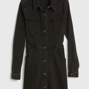 NWT Gap Denim Western Button-Front Shirtdress 16T